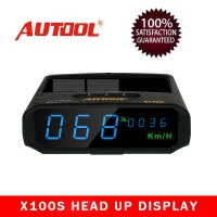 AUTOOL X100S Universal Car Solar Digital Meter X100S GPS HUD Speedometer supports for all car models