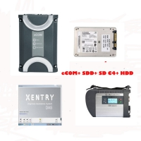 Benz eCOM DoIP with 256G SSD Ecom software & Mercedes Benz C4 Multiplexer Mercedes with V2019.3 Xentry Das Software HDD