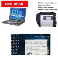 MB Star SD Connect C4 Mux installed V2019.09 Mercedes Benz Xentry das software on Dell D630 Laptop