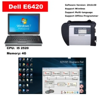 Full Set MB Star SD Connect C4 multiplexer with Dell E6420 laptop installed Mercedes das/xentry V2019.09 software