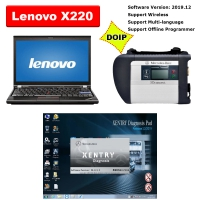 MB SD Connect C4 Doip with Lenovo X220 Laptop Installed V2019.12 Mercedes Xentry DAS Free DTS Monaco & Vediamo