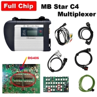 Super Full Chip MB SD Connect C4 Diagnosis C4 Multiplexer Mercedes Cars Trucks Diagnostic Tool With Top DG406 Chip And Ram