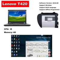 Super MB SD Connect C4 With Lenovo T420 4G I5 Laptop Installed 2019.09 Mercedes Benz Xentry DAS EPC Complete Software