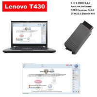 VAS 5054a Audi VW ODIS Interface With V5.1.3 ODIS Download Software Installed in Lenovo T430 Laptop Ready to use