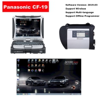 Mercedes Benz C4 MB Star SD Connect C4 Multiplexer With Panasonic CF-19 4G I5 Laptop installed V2019.09 Benz Das Xentry Software