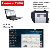 Mercedes multiplexer C4 with Lenovo E49A laptop installed 2019.9 Mercedes Benz Xentry das software full set