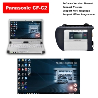 Mercedes Benz C4 MB Star SD Connect C4 Multiplexer With Panasonic CF-C2 4G I5 Laptop installed V2020.06 Benz Das Xentry Software