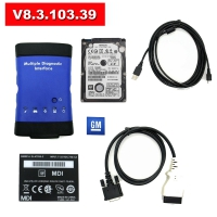 Wifi GM MDI Scan Wireless GM MDI Multiple Diagnostic Interface With V8.3.103.39 GM MDI GDS2 Tech2 Win Software Installed in HDD No Need Activation