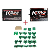 Kess 5.017 EU Version + Red PCB Ktag 7.020 EU Clone + BDM Probe Adapters Full Set