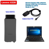 VCDS HEX-V2 Ross Tech V20.4.2 Unlimited Can USB + Super VAS 5054a Bluetoth with V6.2.0 ODIS Download Software Well Installed On Lenovo X220 Laptop Ready To Use